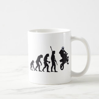 evolution motorbike coffee mug