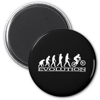 Evolution - Mt Biking 6 Cm Round Magnet