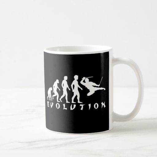 evolution Ninja Black Basic White Mug