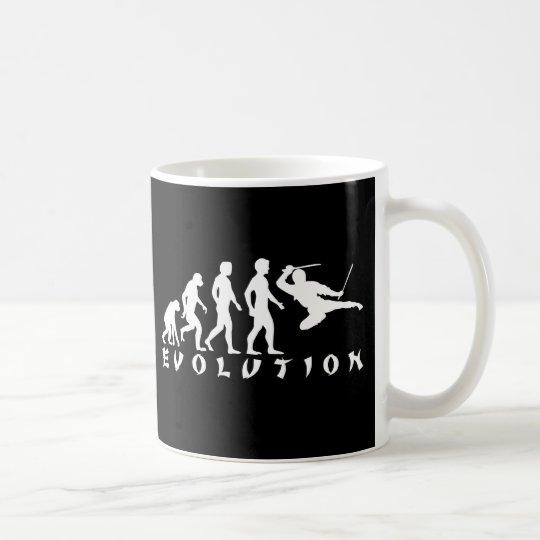 evolution Ninja Black Coffee Mug