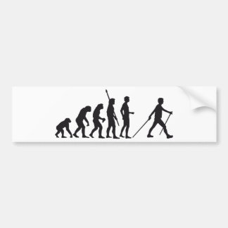 evolution nordic walking bumper sticker