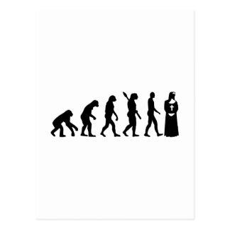 Evolution Nun Postcard