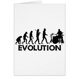 Evolution of a Drummer Greeting Card