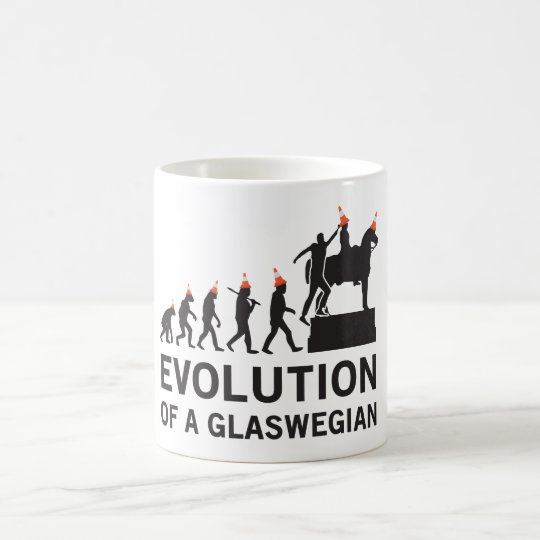 Evolution of a Glaswegian Tshirt (Glasgow) Coffee Mug