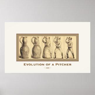 Evolution of a Pitcher ~ 1889 ~ Vintage Fine Art Poster
