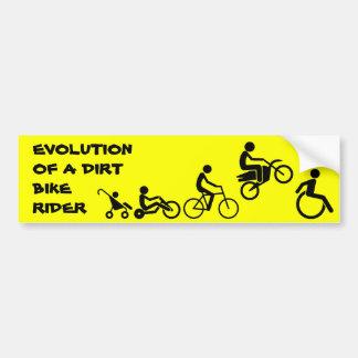 Evolution Of A Rider Dirt Bike Motocross Bumper St Bumper Sticker