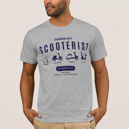 Evolution of a Scooterist – Navy Print T-Shirt