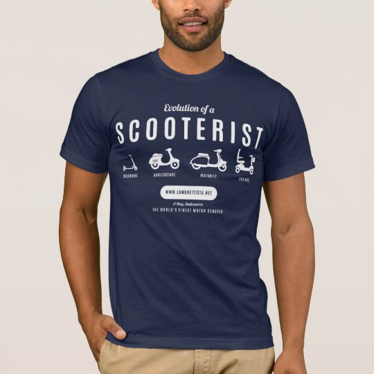 Evolution of a Scooterist… White Print T-Shirt