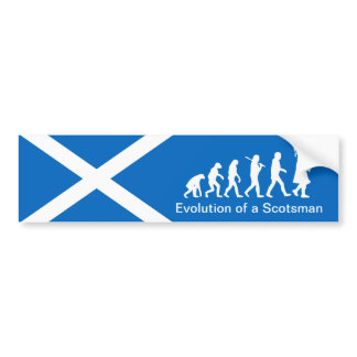 Evolution of a Scotsman Car Bumper Sticker