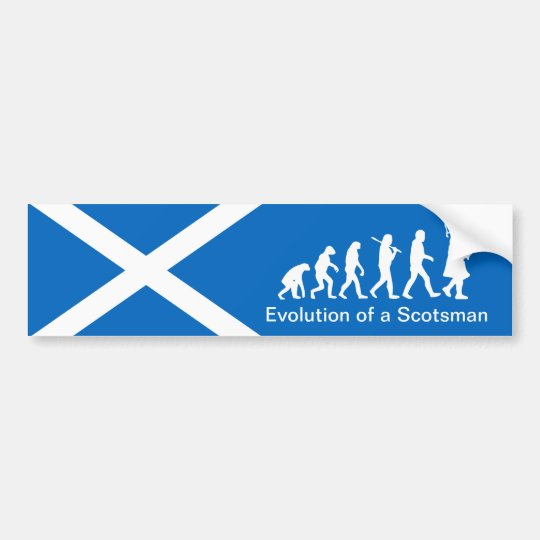 Evolution of a Scotsman Car Bumper Sticker