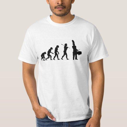 Evolution of a Tenor Drummer (basic white) T-Shirt
