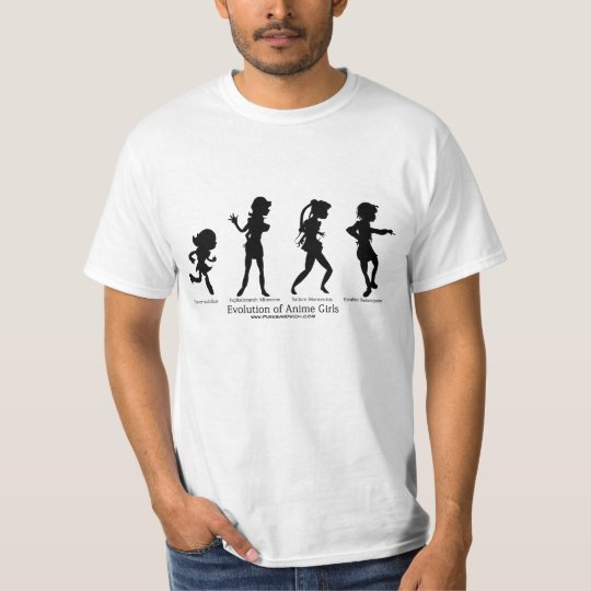 Evolution of Anime Girls T-Shirt