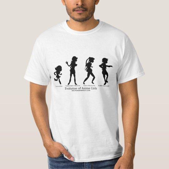 Evolution of Anime Girls T-Shirt