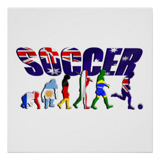 Evolution of Australian soccer Poster