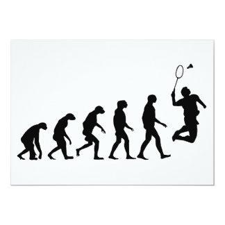 Evolution of Badminton 13 Cm X 18 Cm Invitation Card