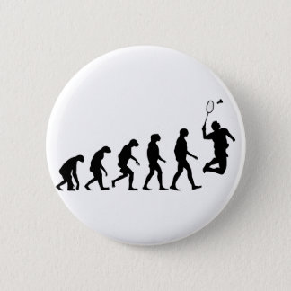 Evolution of Badminton 6 Cm Round Badge