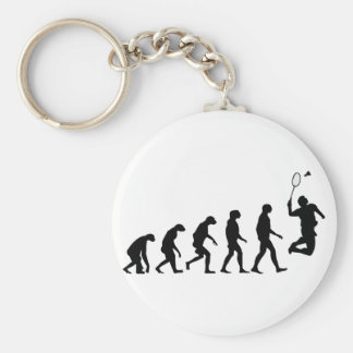 Evolution of Badminton Basic Round Button Key Ring