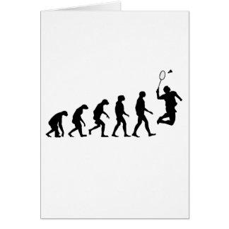 Evolution of Badminton Greeting Card
