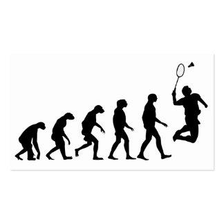 Evolution of Badminton Pack Of Standard Business Cards
