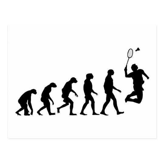 Evolution of Badminton Postcard