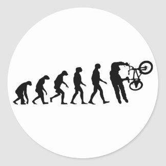 Evolution of BMX Classic Round Sticker