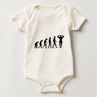 Evolution of Bodybuilding Baby Bodysuit