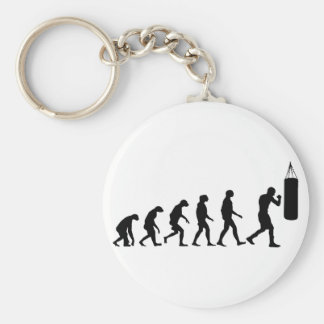 Evolution of Boxing Basic Round Button Key Ring