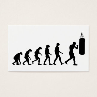 Evolution of Boxing Business Card
