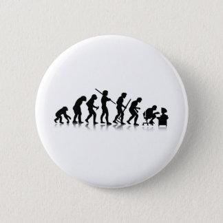 Evolution of Computer Addicts 6 Cm Round Badge
