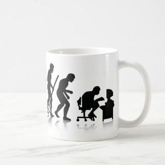Evolution of Computer Addicts Basic White Mug