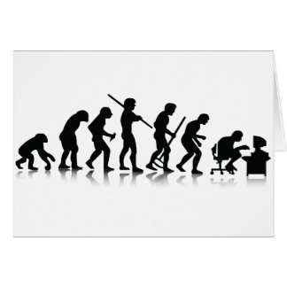 Evolution of Computer Addicts Greeting Card