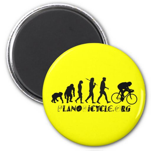 Evolution of Cycling Arty Logo Plano Texas Gear Fridge Magnets
