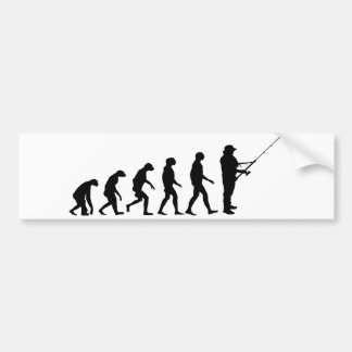 Evolution of Fishing Bumper Sticker