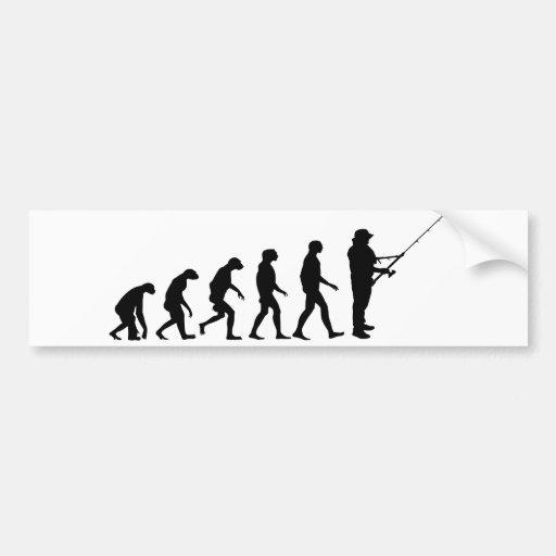 Evolution of Fishing Bumper Sticker