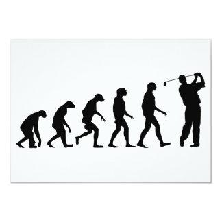 Evolution of Golf 13 Cm X 18 Cm Invitation Card