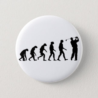 Evolution of Golf 6 Cm Round Badge
