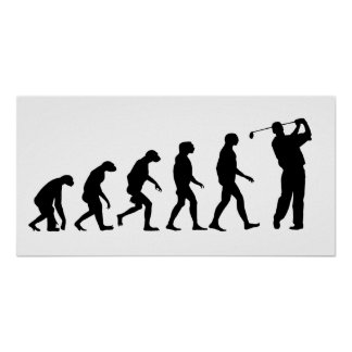 Evolution of Golf Poster