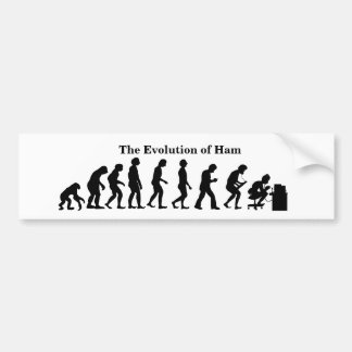 Evolution of Ham Radio Man Bumper Sticker