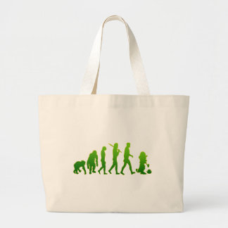 Evolution of leprechauns shirts & gifts large tote bag