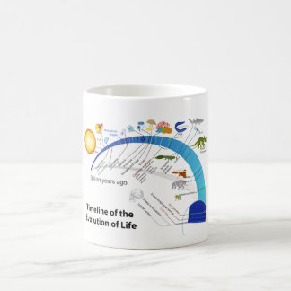 Evolution of Life on Earth Timeline Diagram Coffee Mug