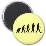 Evolution of Man 6 Cm Round Magnet