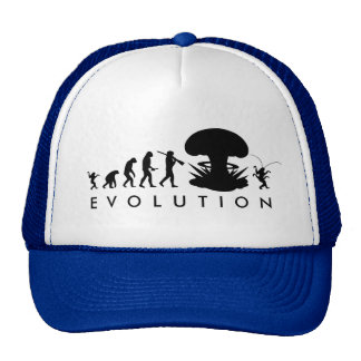 Evolution of Man & Cockroach Funny Evolution Chart Cap