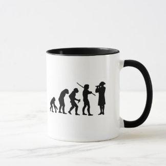 Evolution of Man & Fife Coffee Mug