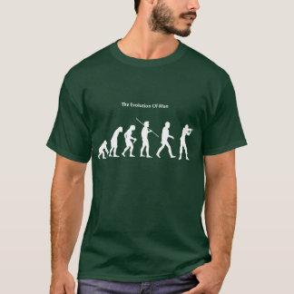 Evolution of Man (Green) Sattrical T-Shirt