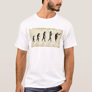 Evolution of man / kung fu T-Shirt