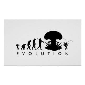 Evolution of Man - Rise of the Cockroach Posters