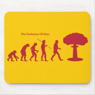 Evolution of Man sattrical mousepad