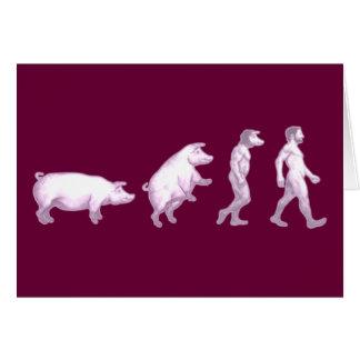 Evolution of men greeting card