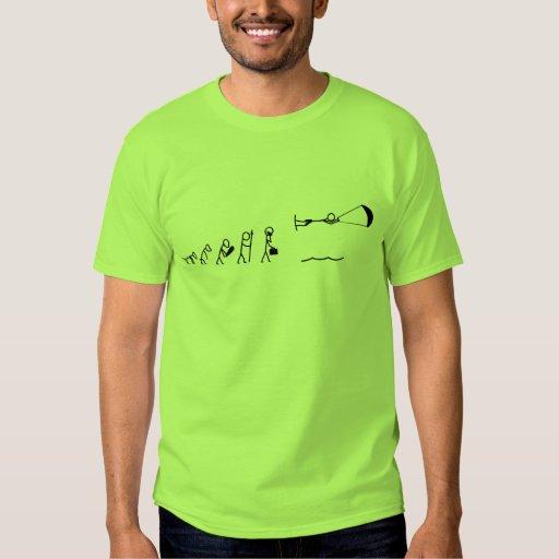 evolution of men kiteboarding t-shirts