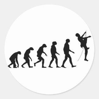 Evolution of Mountain Climbing Round Sticker
